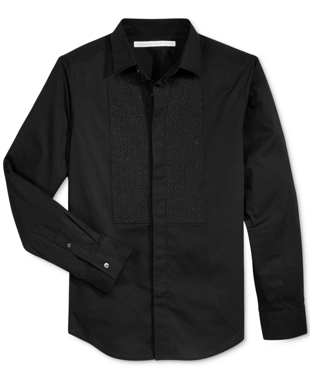 Lyst sean john men 39 s studded shirt in black for men for Sean john t shirts for mens