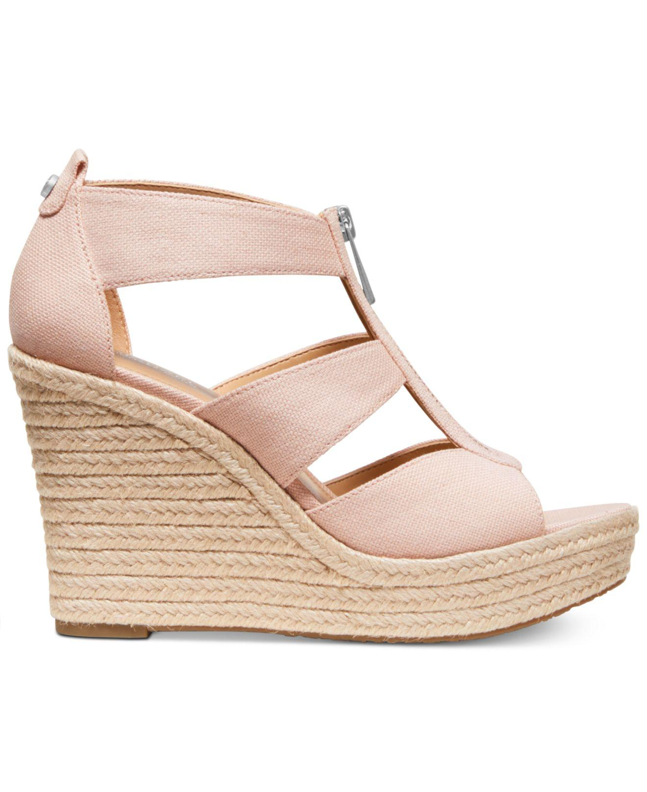 44db805b96c Michael Kors Michael Damita Platform Wedge Sandals in Pink - Save 56% - Lyst