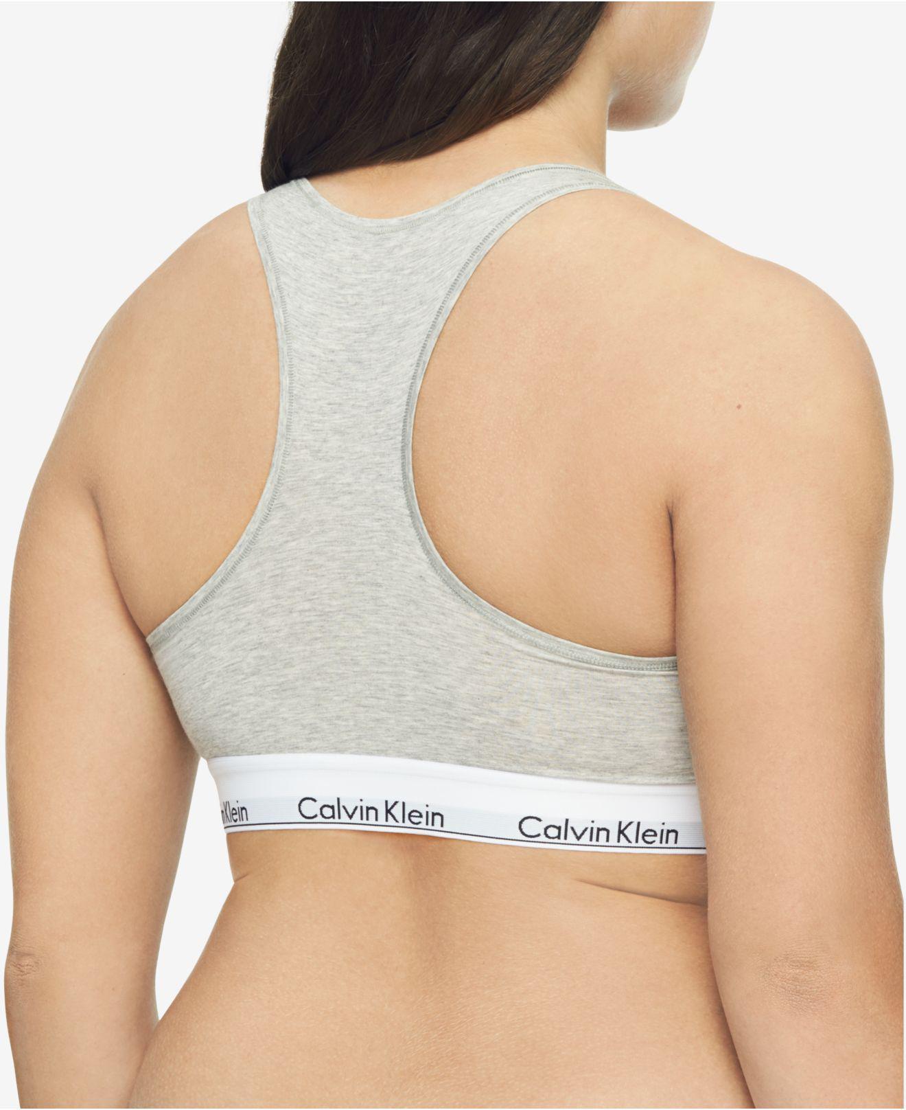 19055c4a5a8 Calvin Klein - Gray Plus Size Modern Cotton Unlined Bralette Qf5116 - Lyst.  View fullscreen
