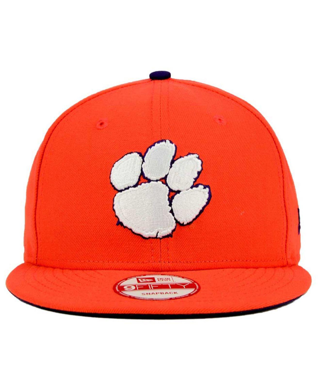 cca6086eb1a Lyst - KTZ Clemson Tigers Core 9fifty Snapback Cap in Orange for Men