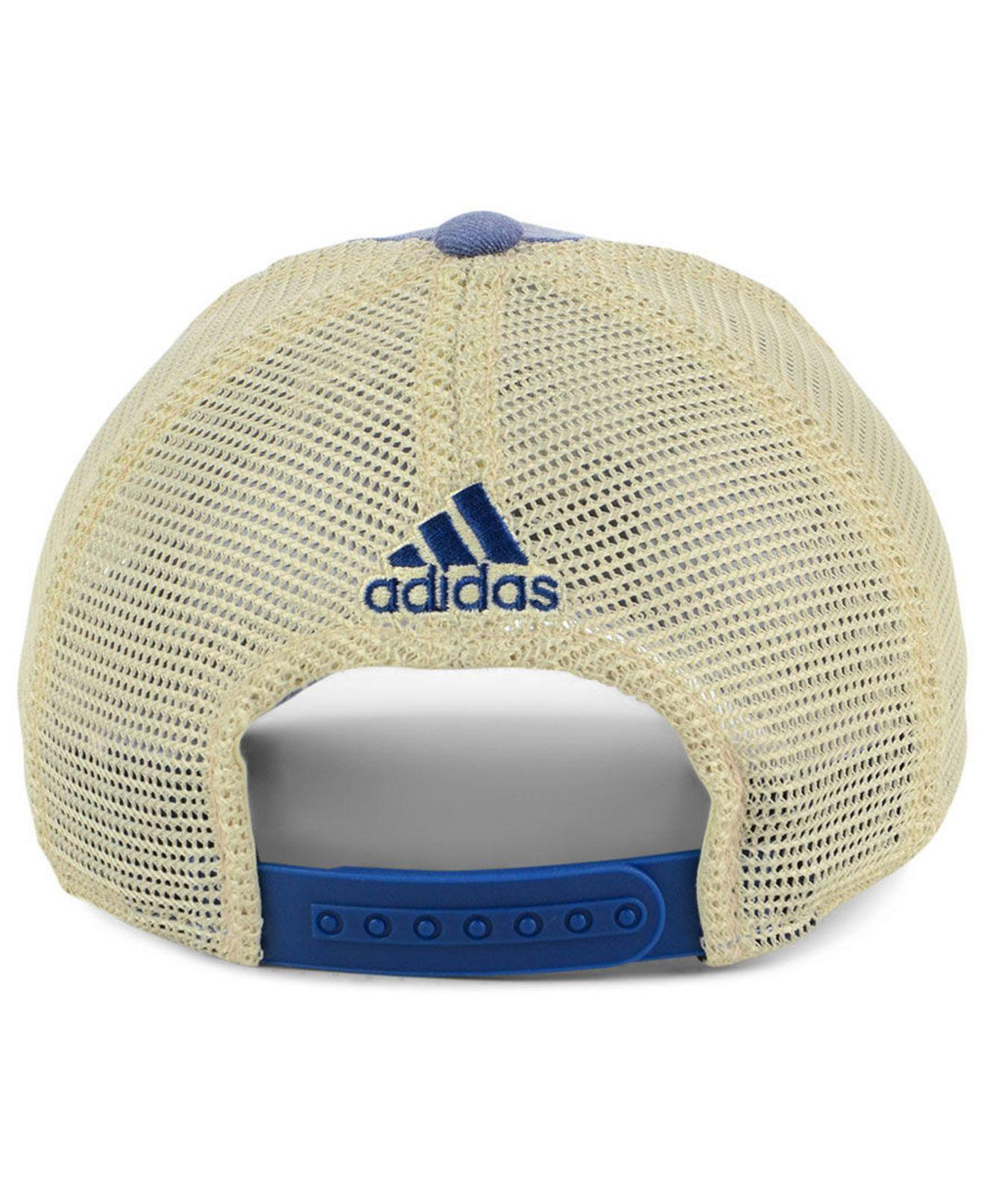 best service 1f4b7 ace87 ... inexpensive adidas blue toronto maple leafs sun bleached slouch cap for men  lyst. view fullscreen