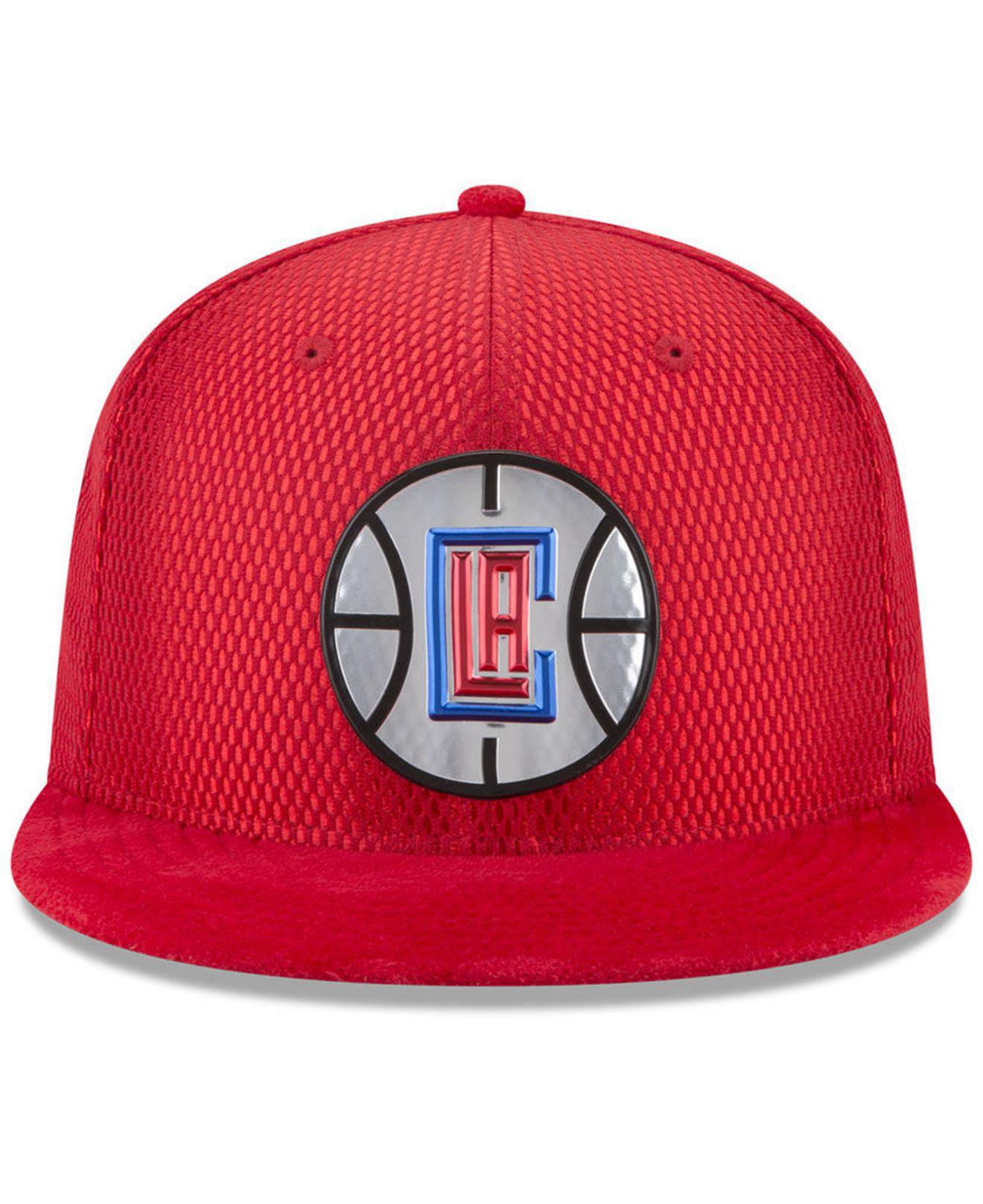 new concept 5706d 20b19 Lyst - KTZ Los Angeles Clippers On Court Reverse 9fifty Snapback Cap ...