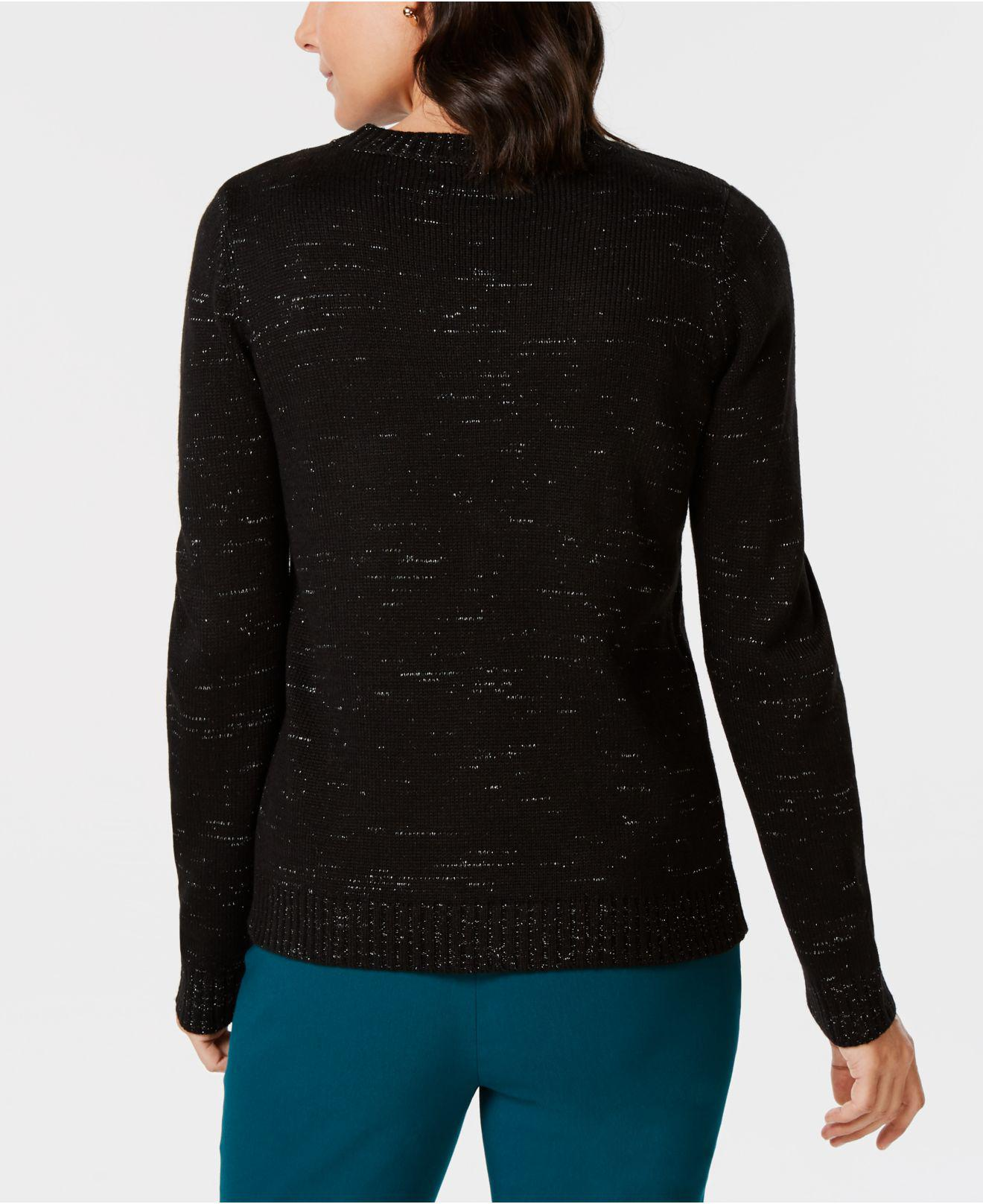 Lyst Karen Scott Holiday Embellished Sweater Created For Macys