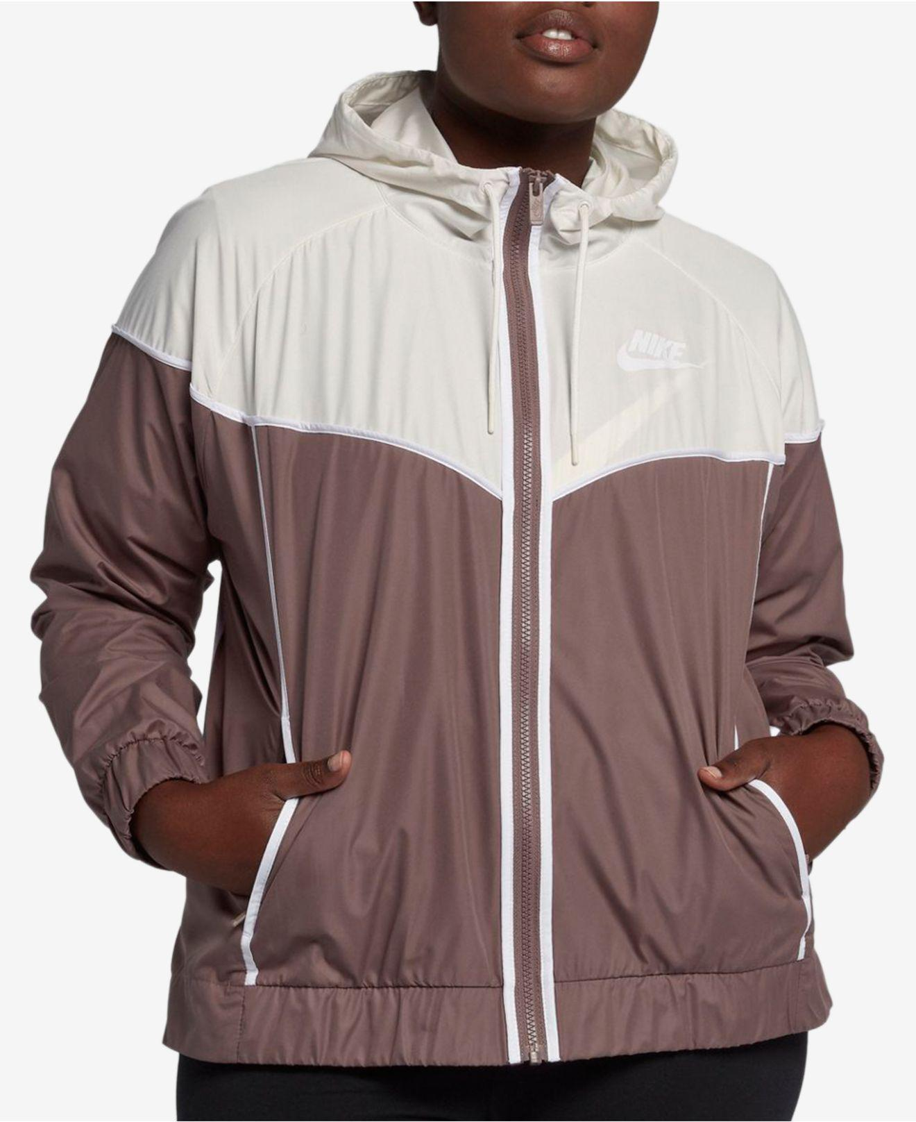 4ca7b4bc9aa Nike. Women s Plus Size Sportswear Windrunner Jacket