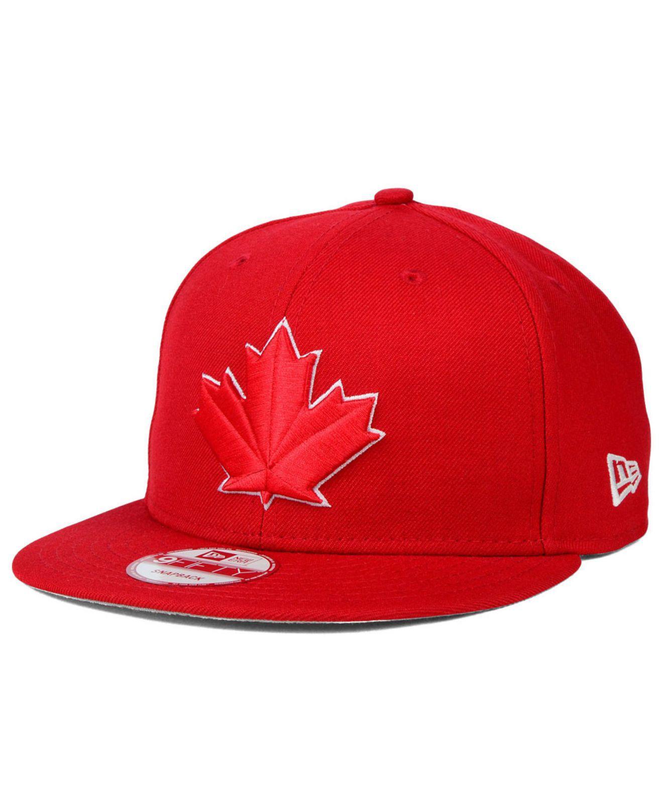 e8412261384 Lyst - KTZ Toronto Blue Jays 9fifty Snapback Cap in Red for Men