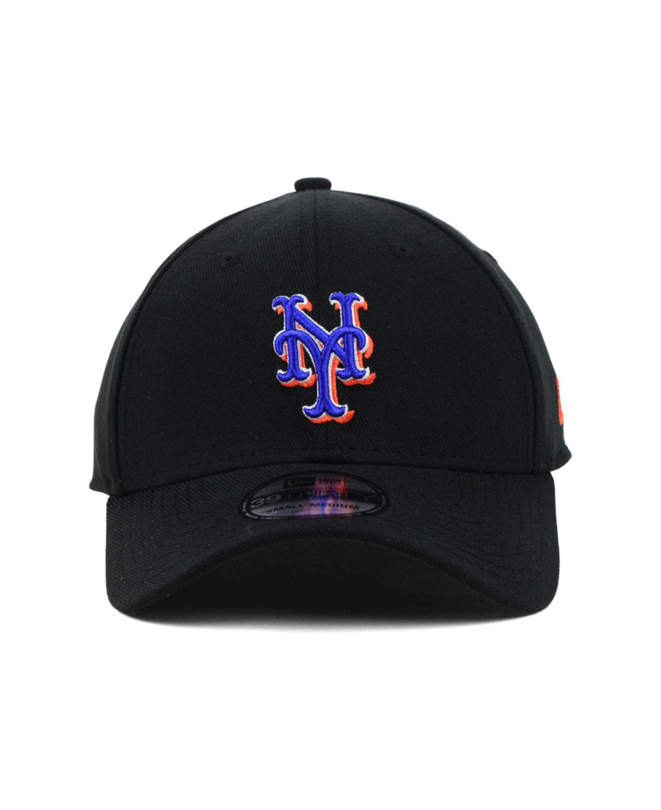 the best attitude 54363 1d0b4 ... closeout lyst ktz new york mets mlb team classic 39thirty cap in black  for men c4fb0