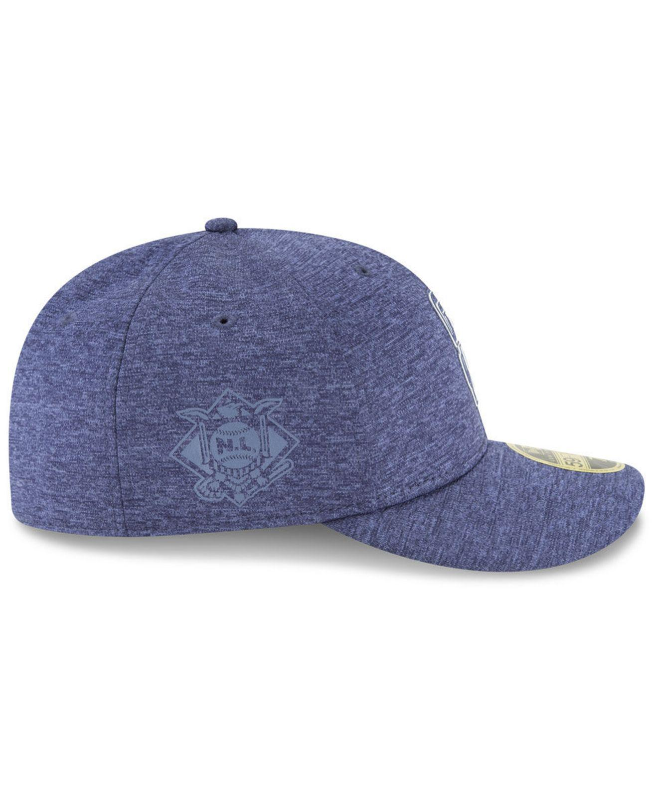 new product 850d7 ef7c6 Lyst - KTZ San Diego Padres Clubhouse Low Crown 59fifty Fitted Cap in Blue  for Men