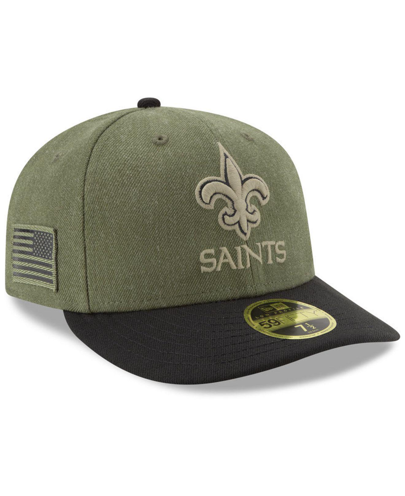 5eff1cbb076 KTZ New Orleans Saints Salute To Service Low Profile 59fifty Fitted ...