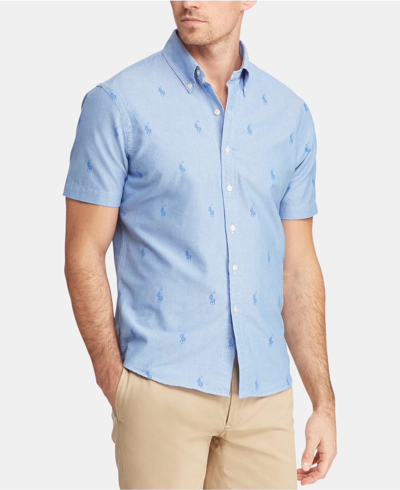 8500dc9c0d127 Lyst - Polo Ralph Lauren Classic-fit Pony Shirt in Blue for Men