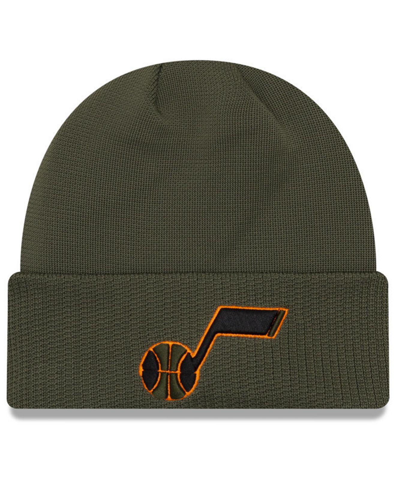 buy popular 761a5 18a21 ... release date ktz. mens green utah jazz tip pop cuffed knit hat 44096  ebee3