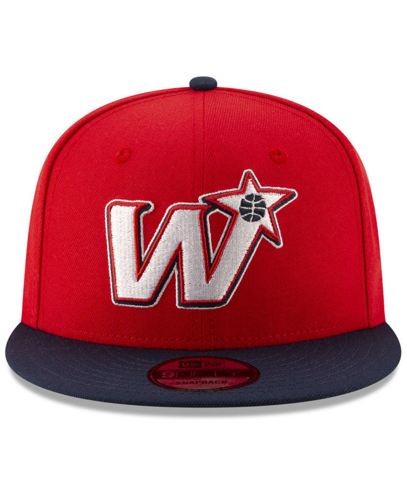 quality design a243e 66ad7 ... spain lyst ktz washington wizards light city combo 9fifty snapback cap  in red for men ad74f