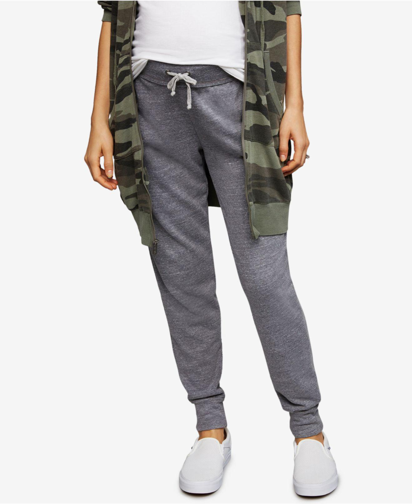 2f4a1f5aed585 Lyst - Splendid Maternity Under-belly Jogger Pants in Gray