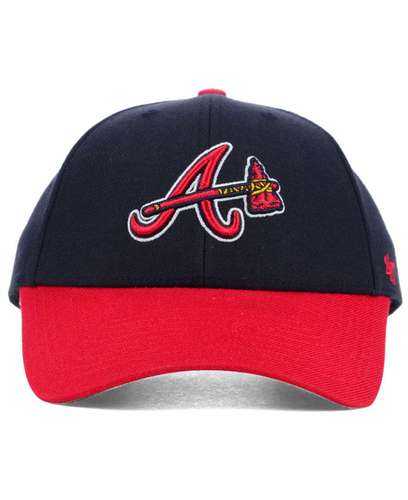 84fec8c09fc Lyst - 47 Brand Atlanta Braves Mvp Curved Cap in Blue for Men