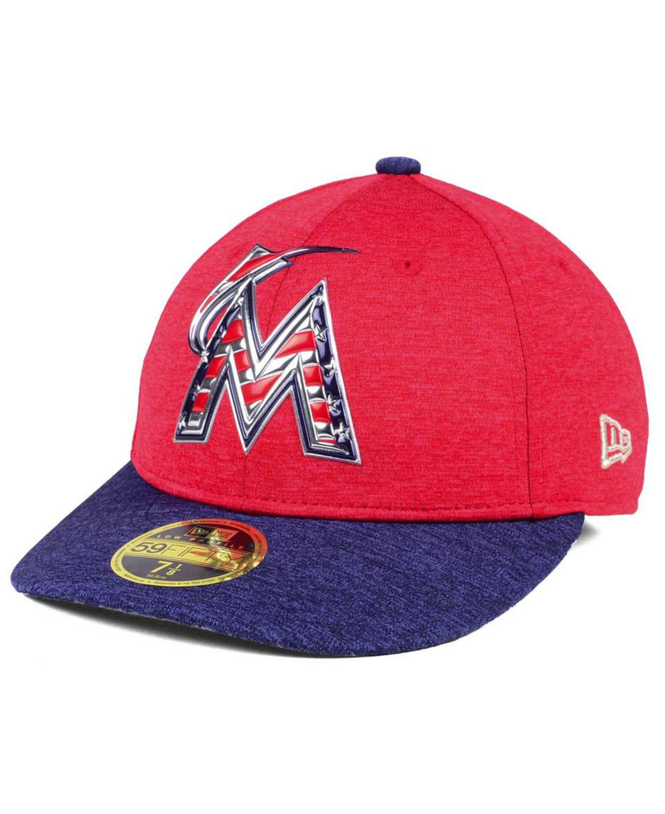 68ea63bba7d ... spain ktz. mens red low profile stars stripes 59fifty cap a3282 f0d1f