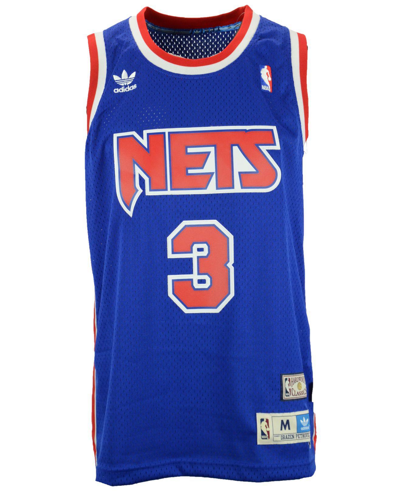 97144f24105 new jersey nets 3 drazen petrovic blue swingman throwback jersey