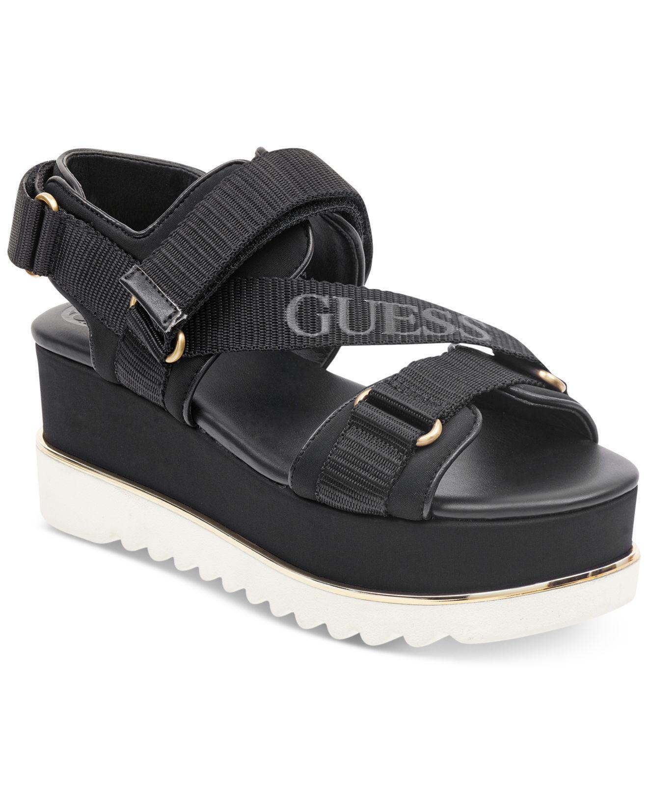 Guess Women's Laureta Flatform Logo Sport Sandals Women's Shoes Gb0ig2R