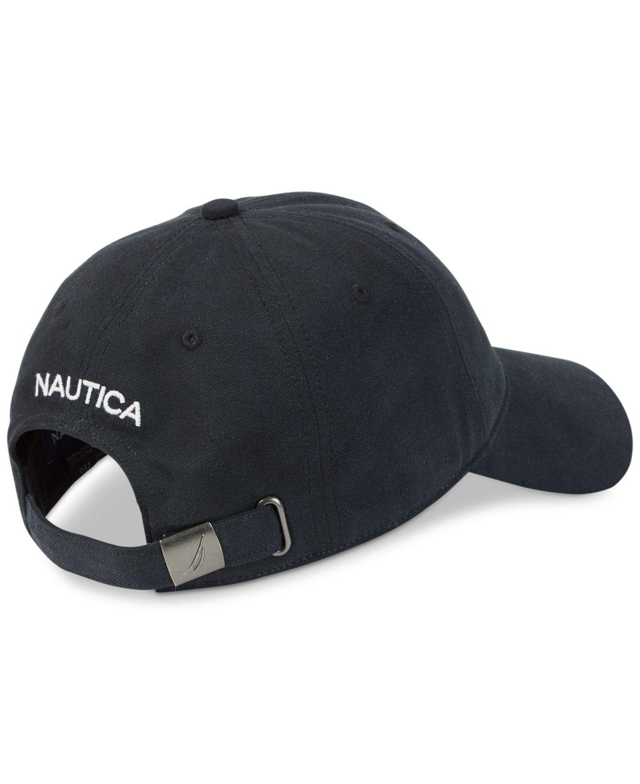 1b262449ff174 Nautica Logo Baseball Cap in Black for Men - Lyst