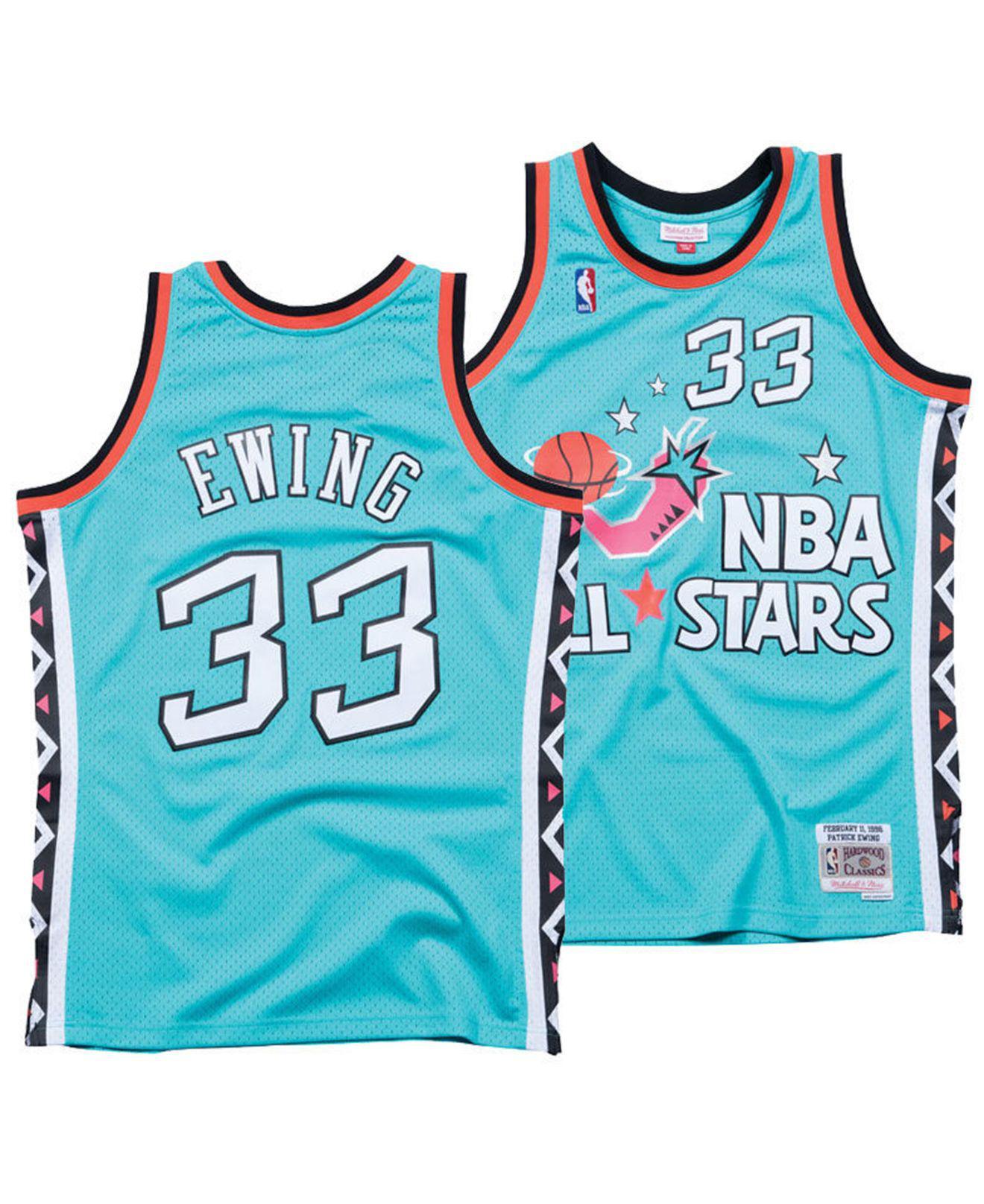 22d36449408 Mitchell   Ness. Men s Blue Patrick Ewing Nba All Star 1996 Swingman Jersey