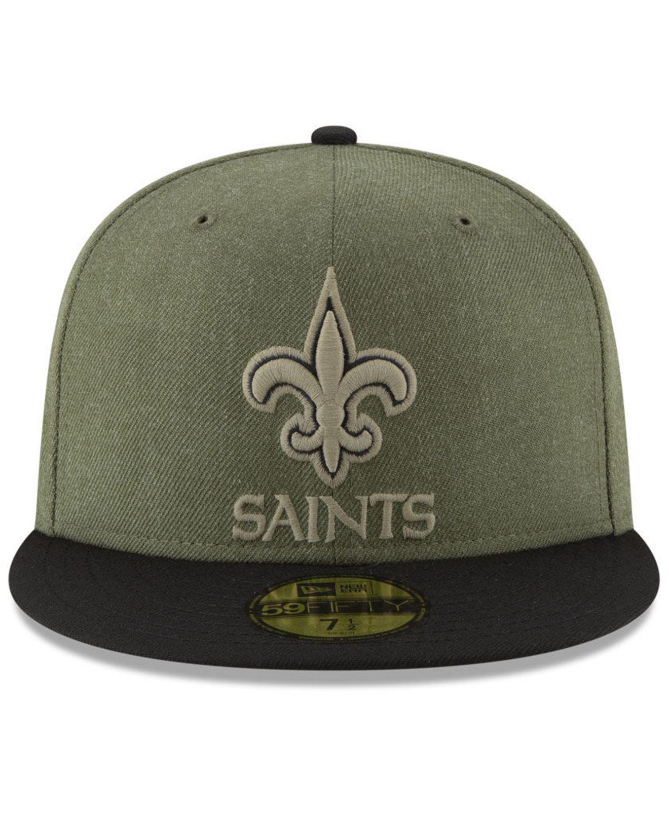 df7e6292d8a Lyst - KTZ New Orleans Saints Salute To Service 59fifty Fitted Cap in Green  for Men
