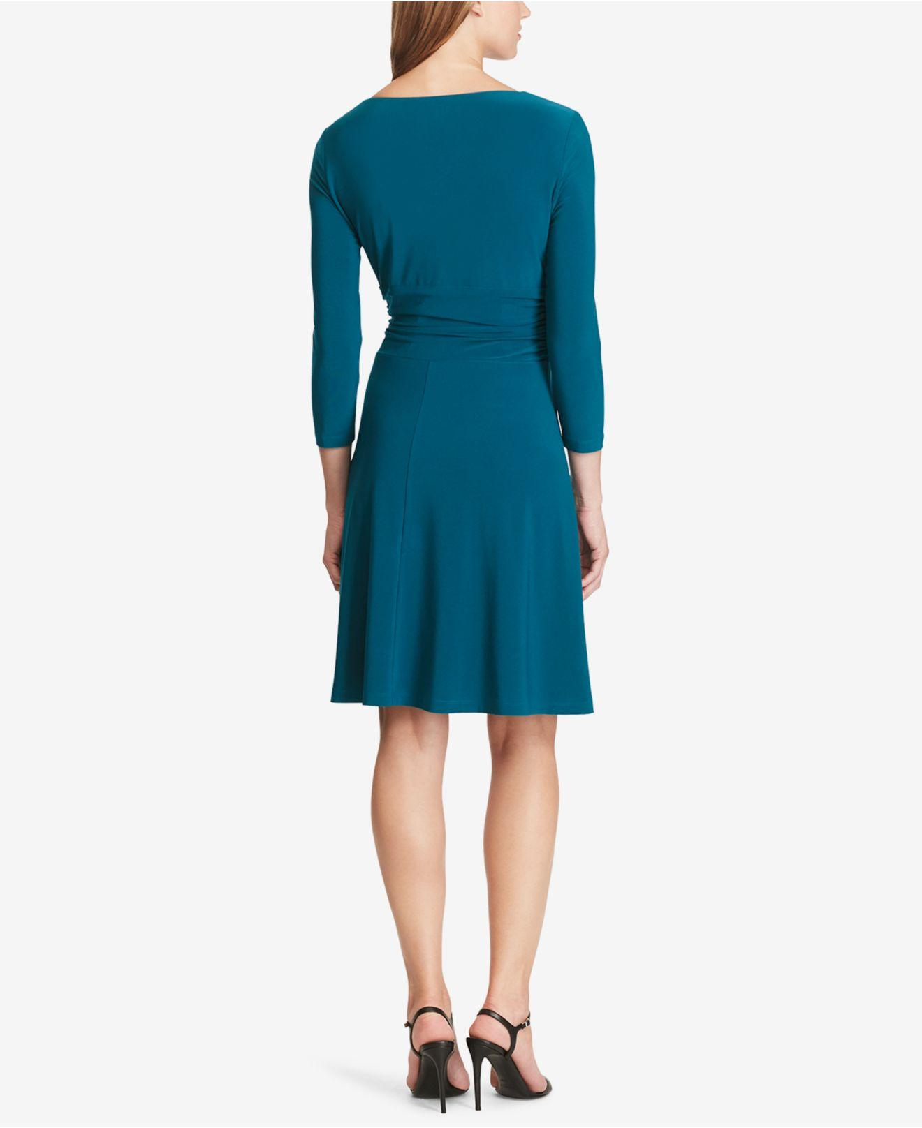 Lyst American Living Ruched Jersey Dress In Blue
