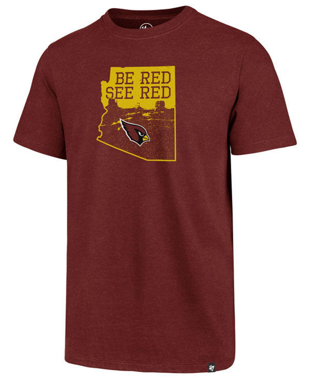 Lyst - 47 Brand Arizona Cardinals Regional Slogan Club T-shirt in ... 7d29936d3