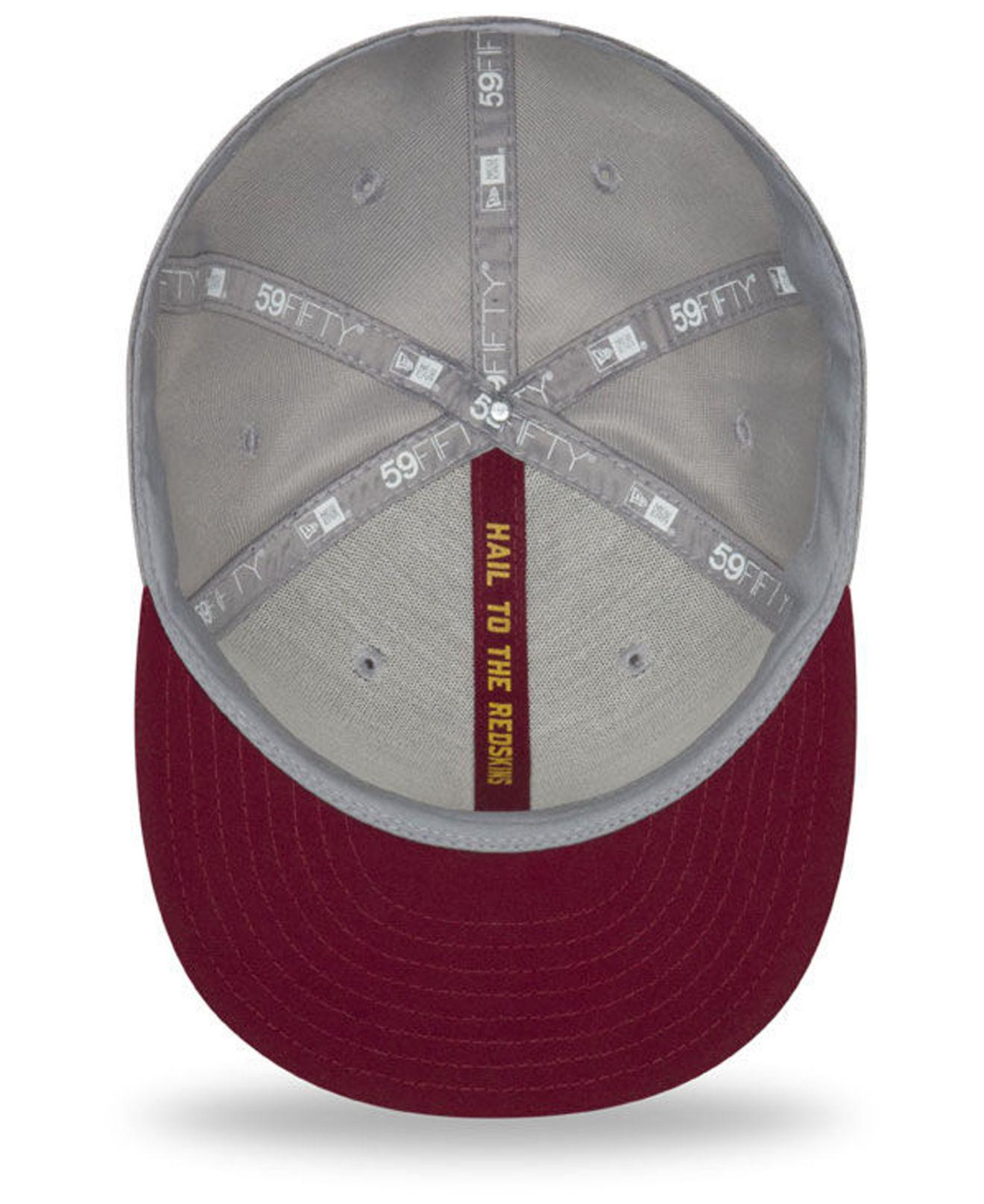 online retailer 3bcaa 8217a KTZ - Gray Washington Redskins On Field Sideline Road 59fifty Fitted Cap  for Men - Lyst. View fullscreen