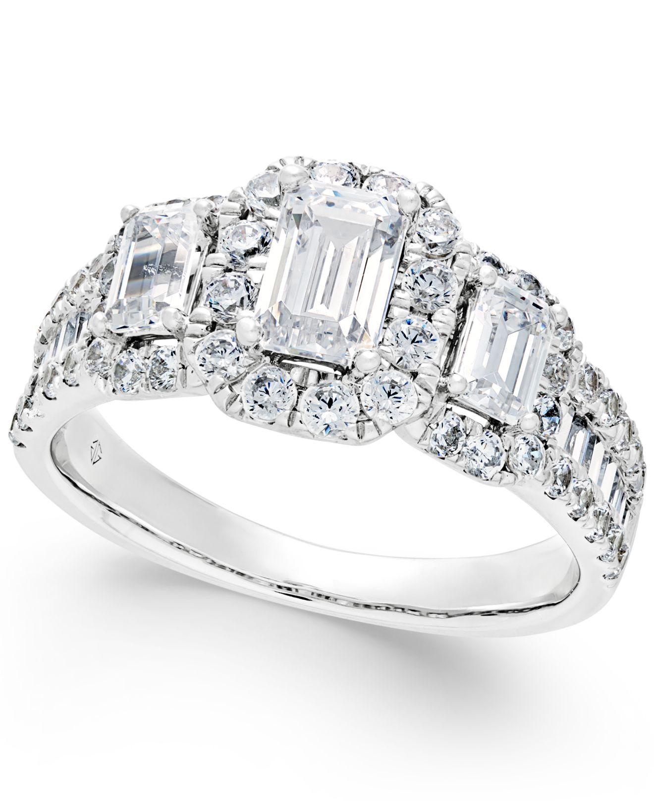 Macy's Diamond Engagement Ring (2 Ct. T.w.) In 14k White
