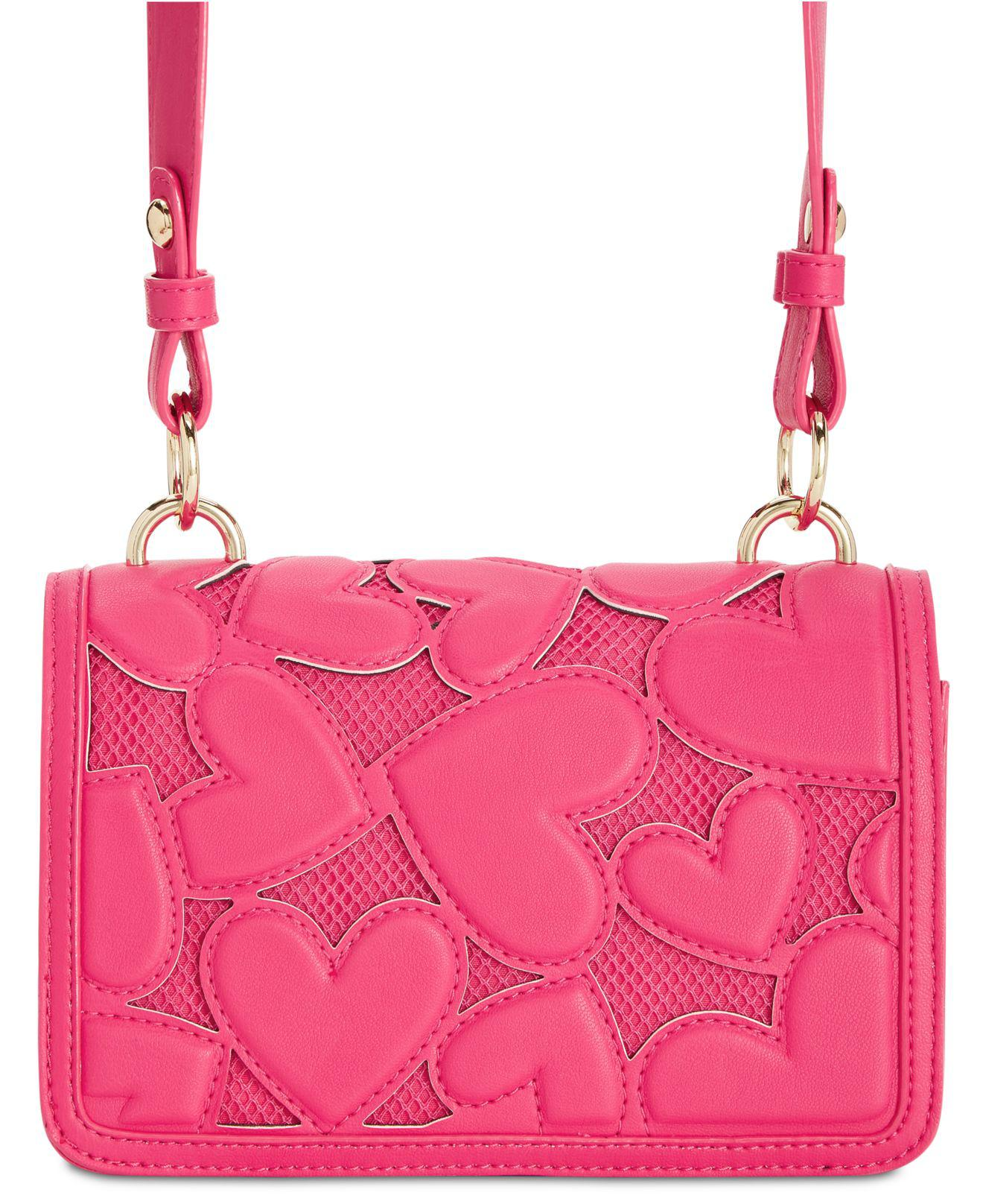 94ed1c538b Lyst - Betsey Johnson Bachelor Of Fine Hearts Crossbody in Pink
