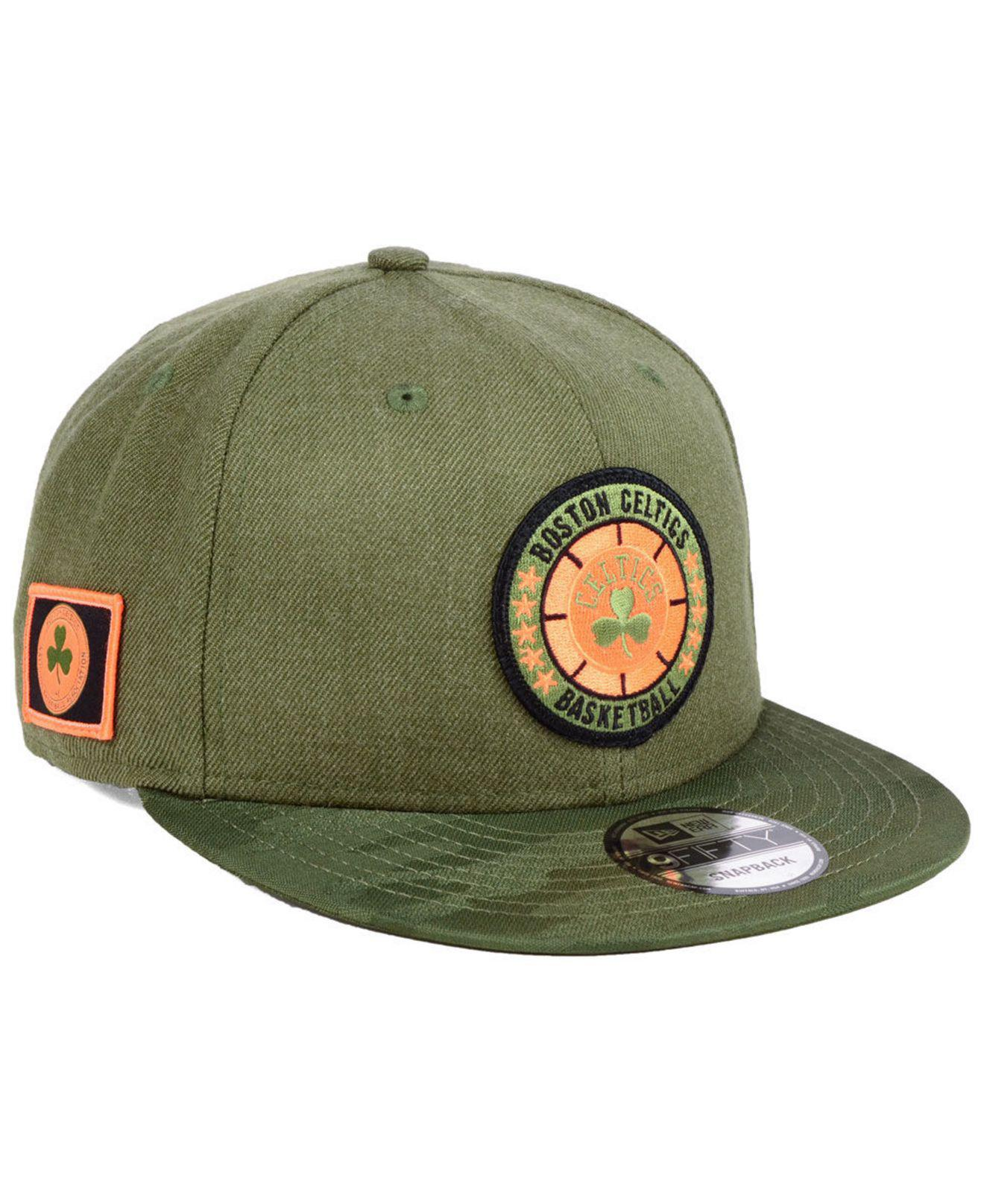 604a96cbf2a Lyst - KTZ Boston Celtics Tip Off 9fifty Snapback Cap in Green for Men
