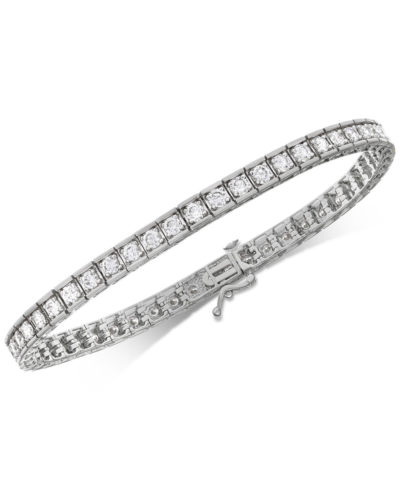 Macy S Women Metallic Diamond Tennis Bracelet