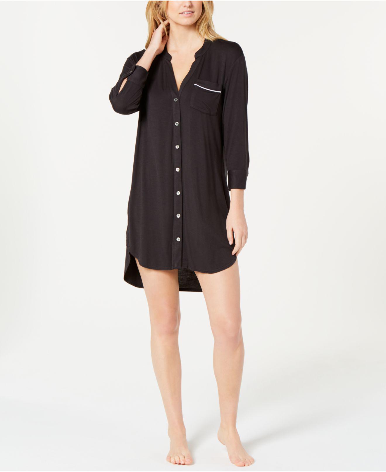 2a9080cb75 Lyst - Ugg Vivian Knit Sleepshirt in Black