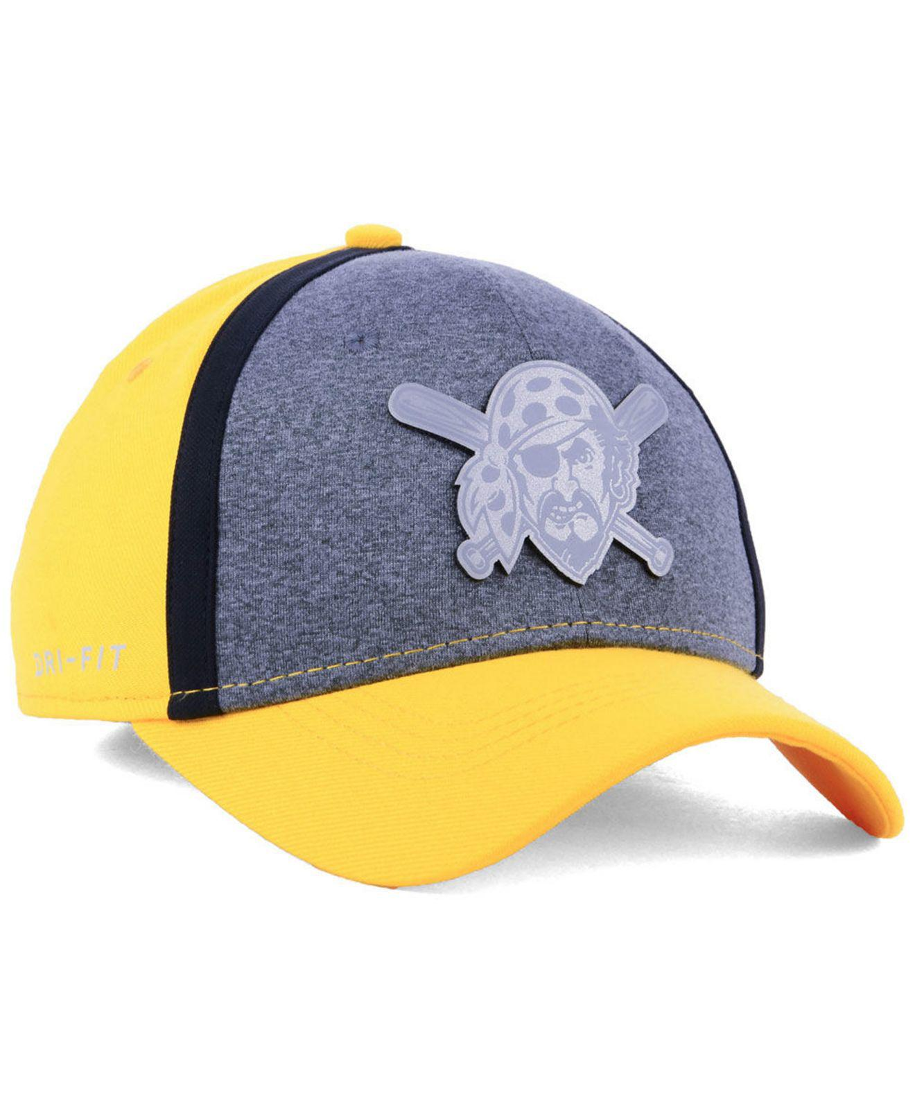 purchase cheap 04faa d93d9 ... low price nike multicolor pittsburgh pirates team color reflective  swooshflex cap for men lyst. view