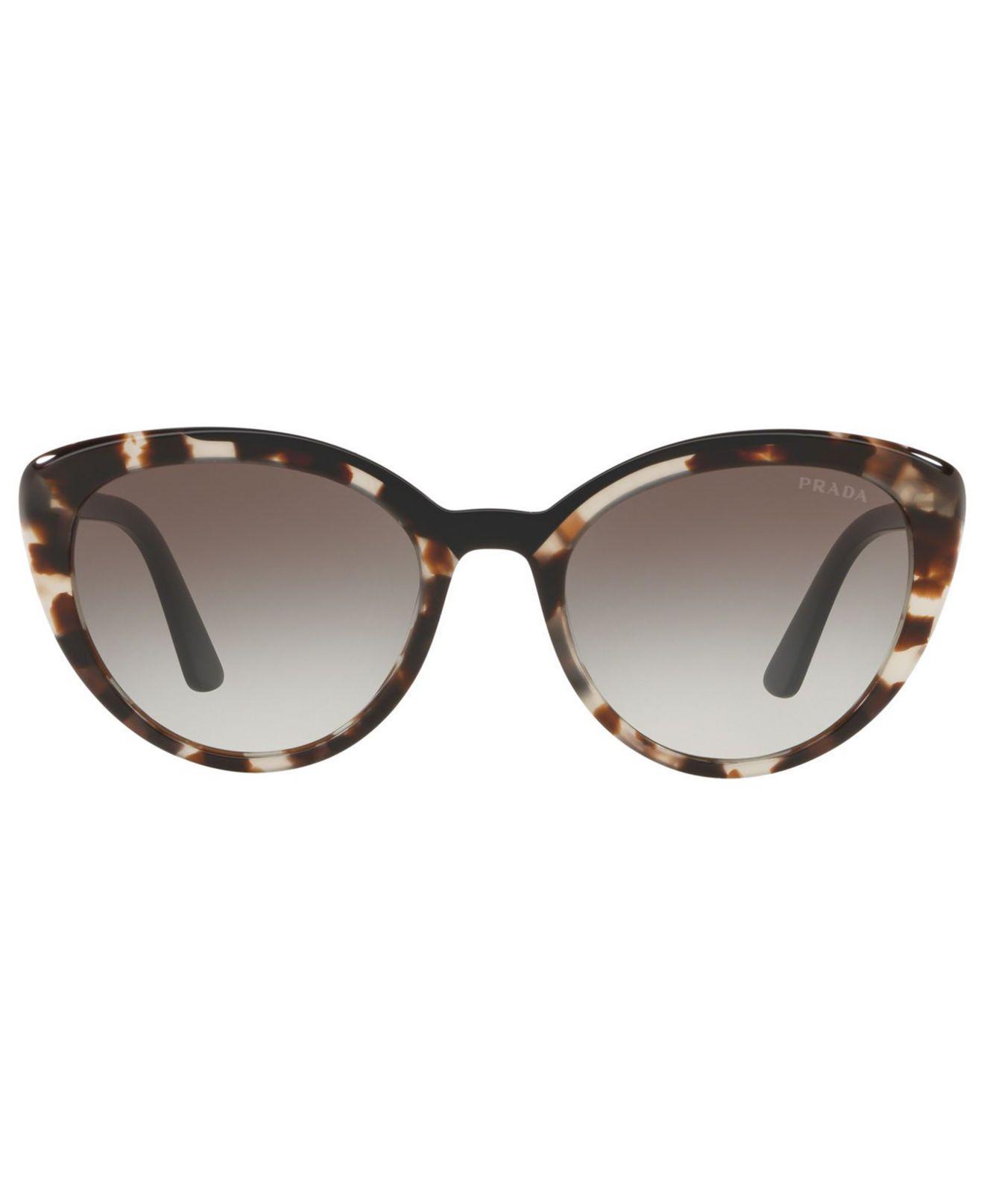 93319048cc44 Lyst - Prada 54mm Cat Eye Sunglasses - Opal Brown Gradient in Gray