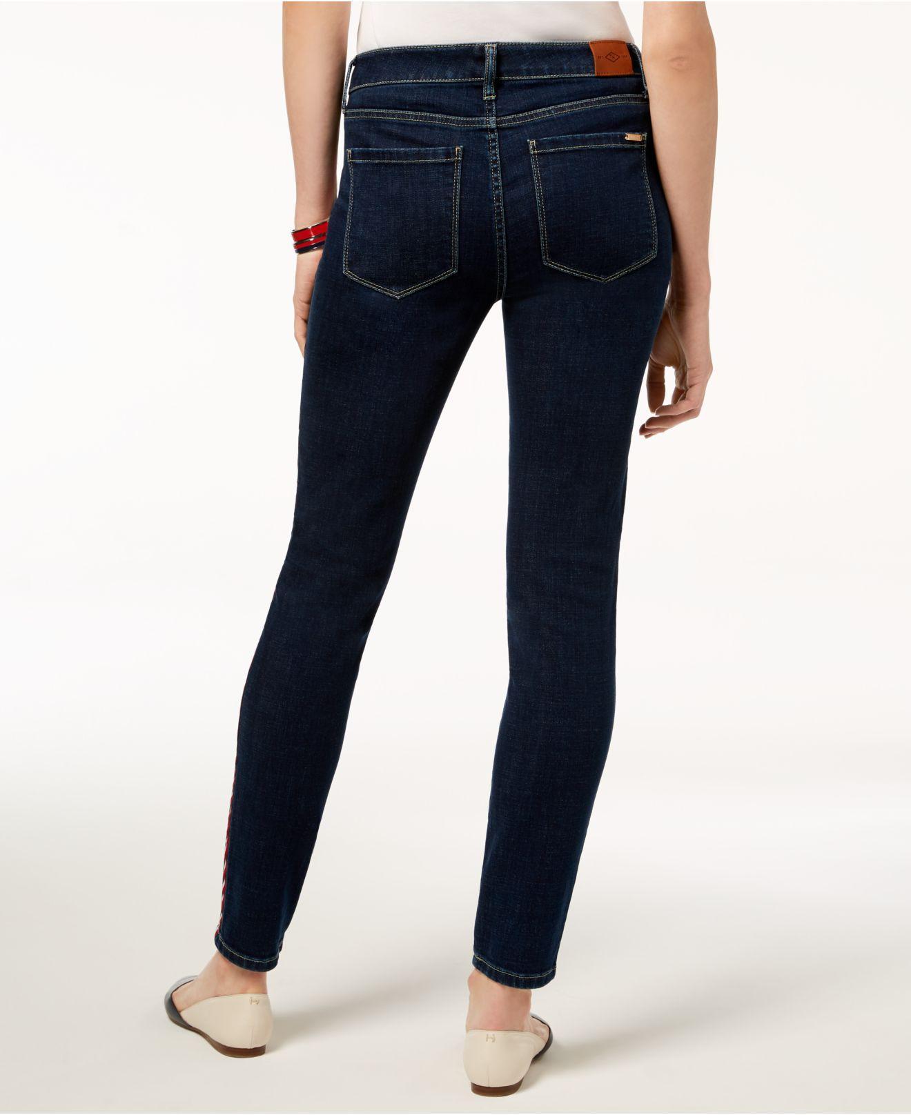 529e538a Tommy Hilfiger Side-stripe Skinny Jeans in Blue - Save 38% - Lyst