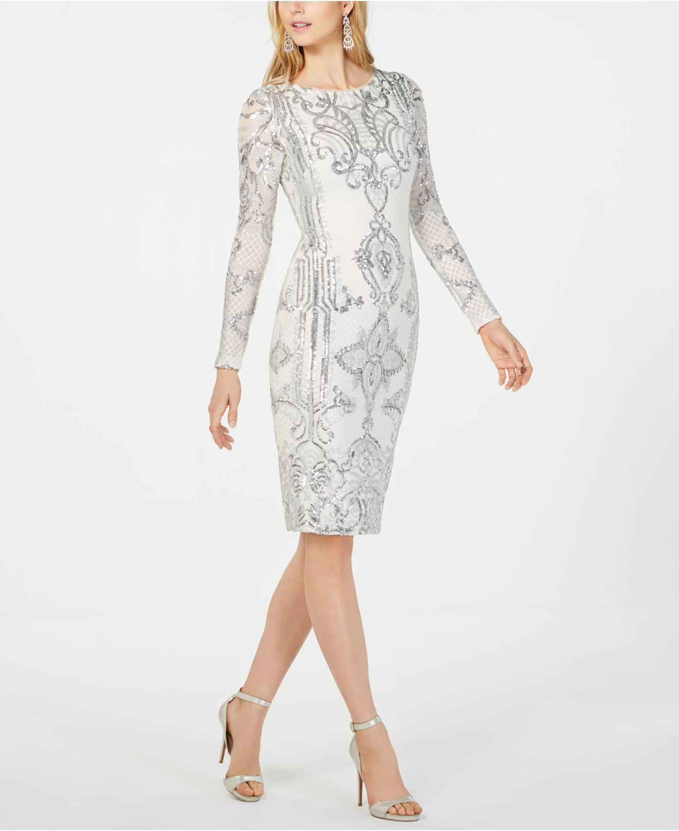 1635a496c680 Betsy & Adam Petite Embroidered Sheath Dress in White - Lyst