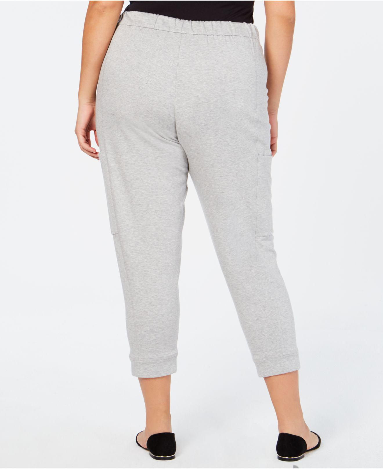 c02b32d4c8919 Lyst - Eileen Fisher ® Plus Size Cropped Sweatpants in Gray