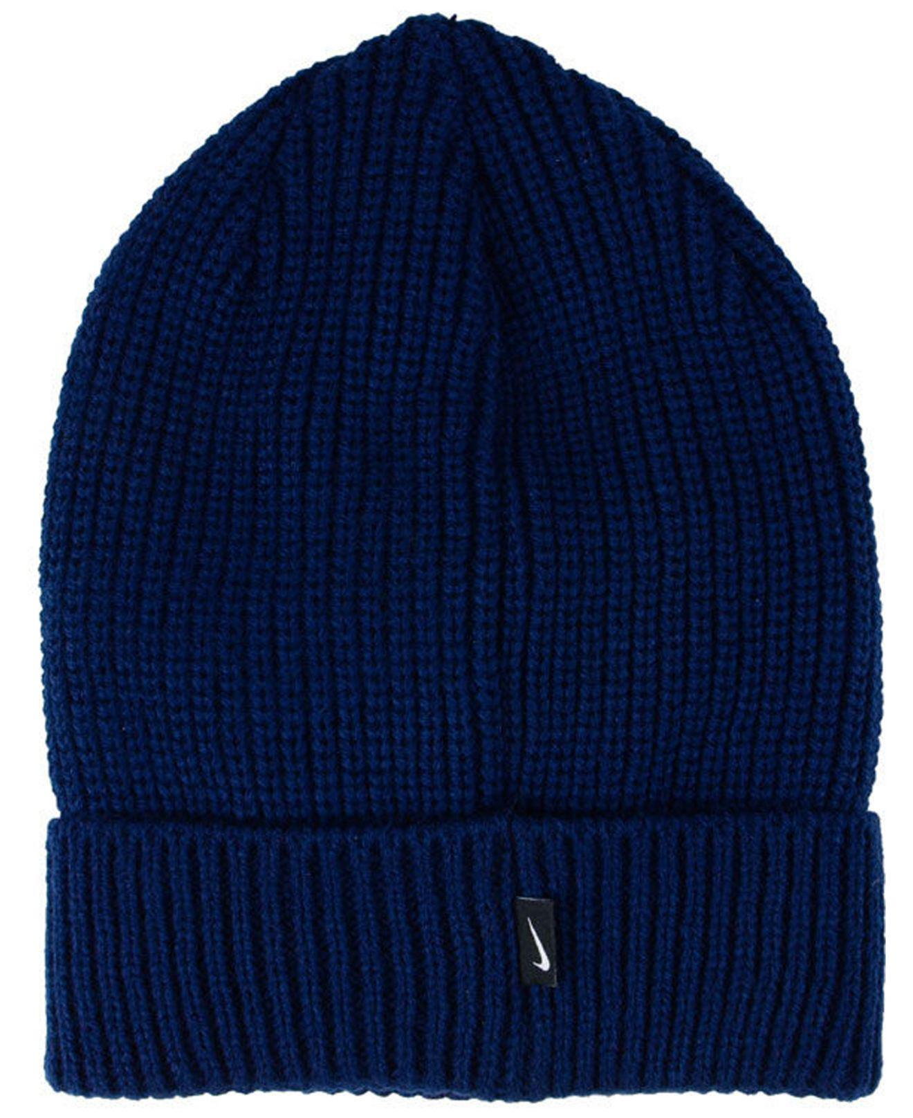 Nike - Blue Cuffed Knit Hat for Men - Lyst. View fullscreen ce038fe02