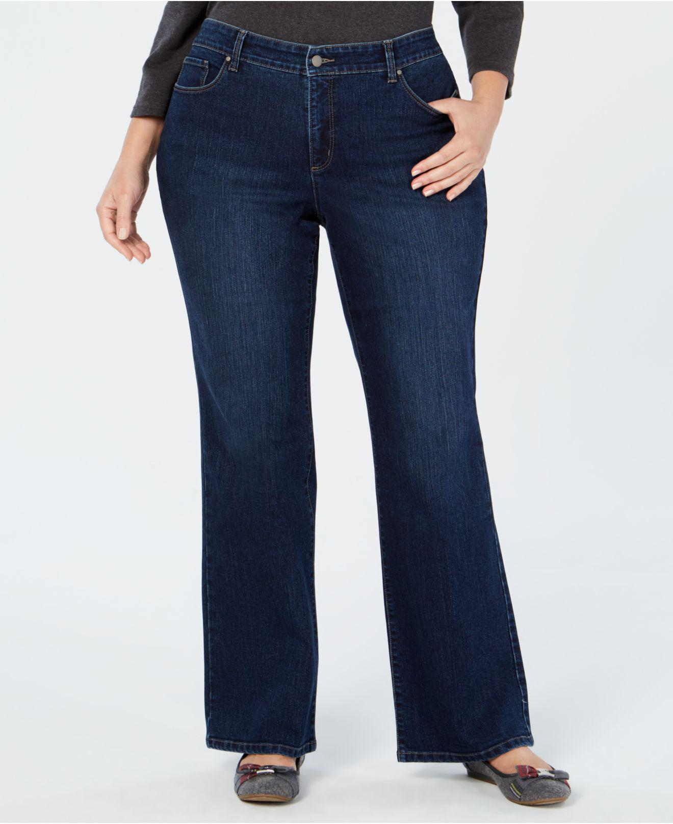 6f0d8e7f240 Charter Club. Women s Blue Plus Size Prescott Tummy-control Bootcut Jeans  ...