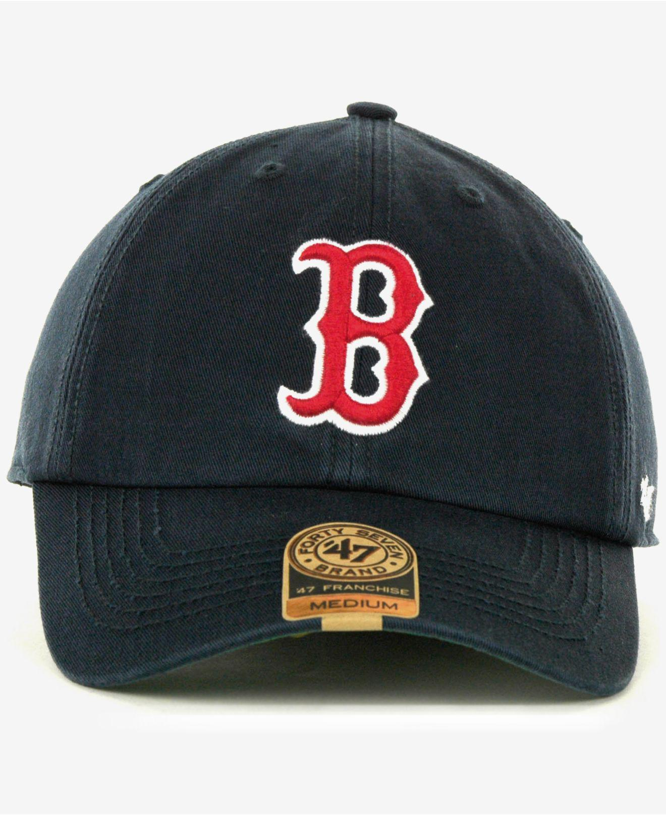 online store 46133 812cc Lyst - 47 Brand Boston Red Sox Franchise Cap in Blue for Men