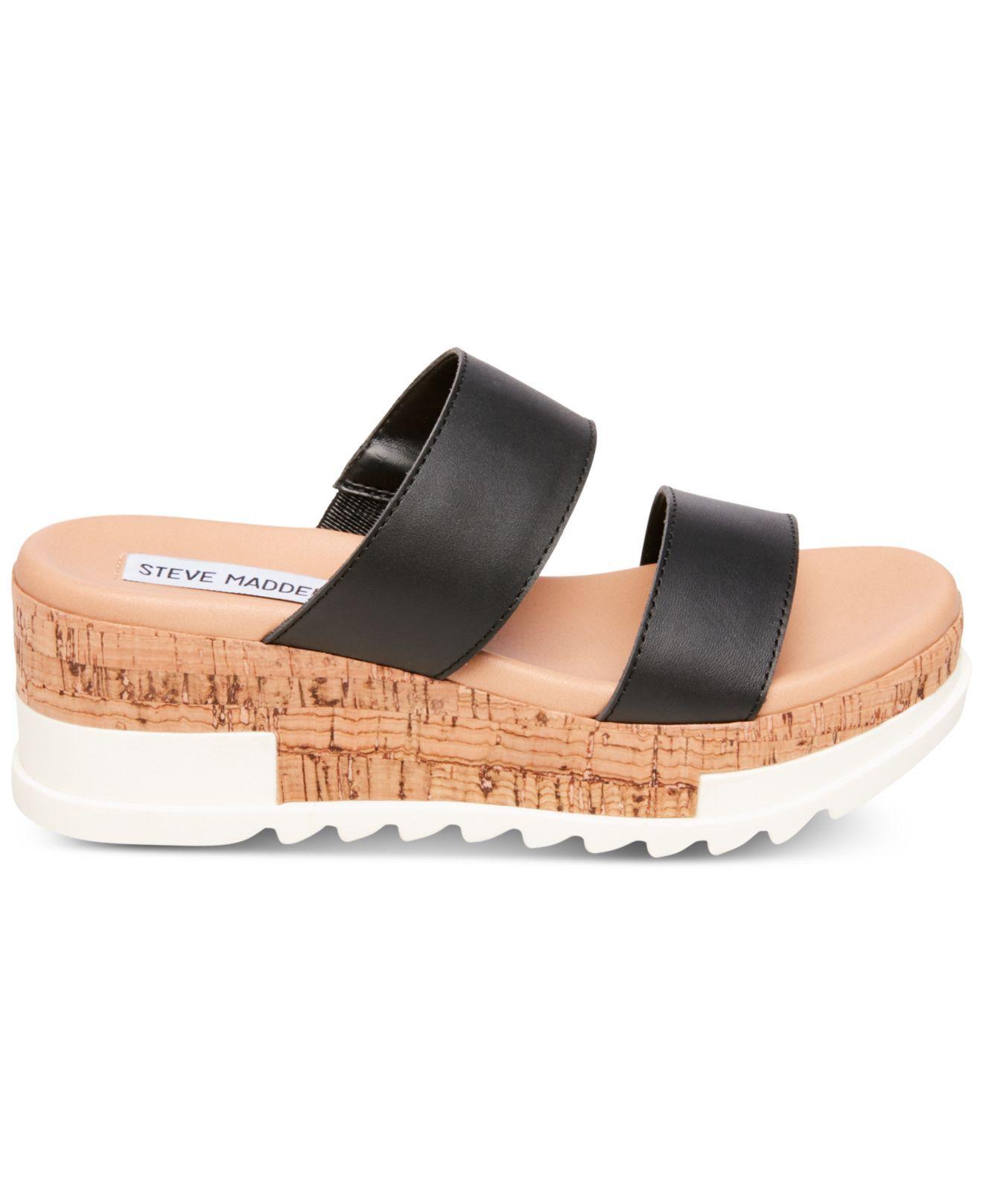 af86013553d Lyst - Steve Madden Blaine Flatform Sandals in Black