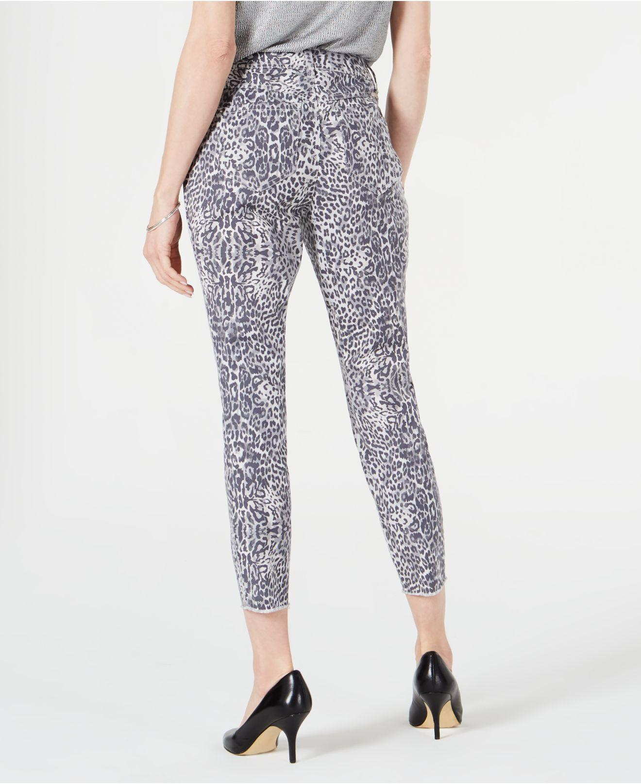 452004febee2 INC International Concepts I.n.c. Animal-print Curvy-fit Skinny Jeans,  Created For Macy's in Blue - Lyst