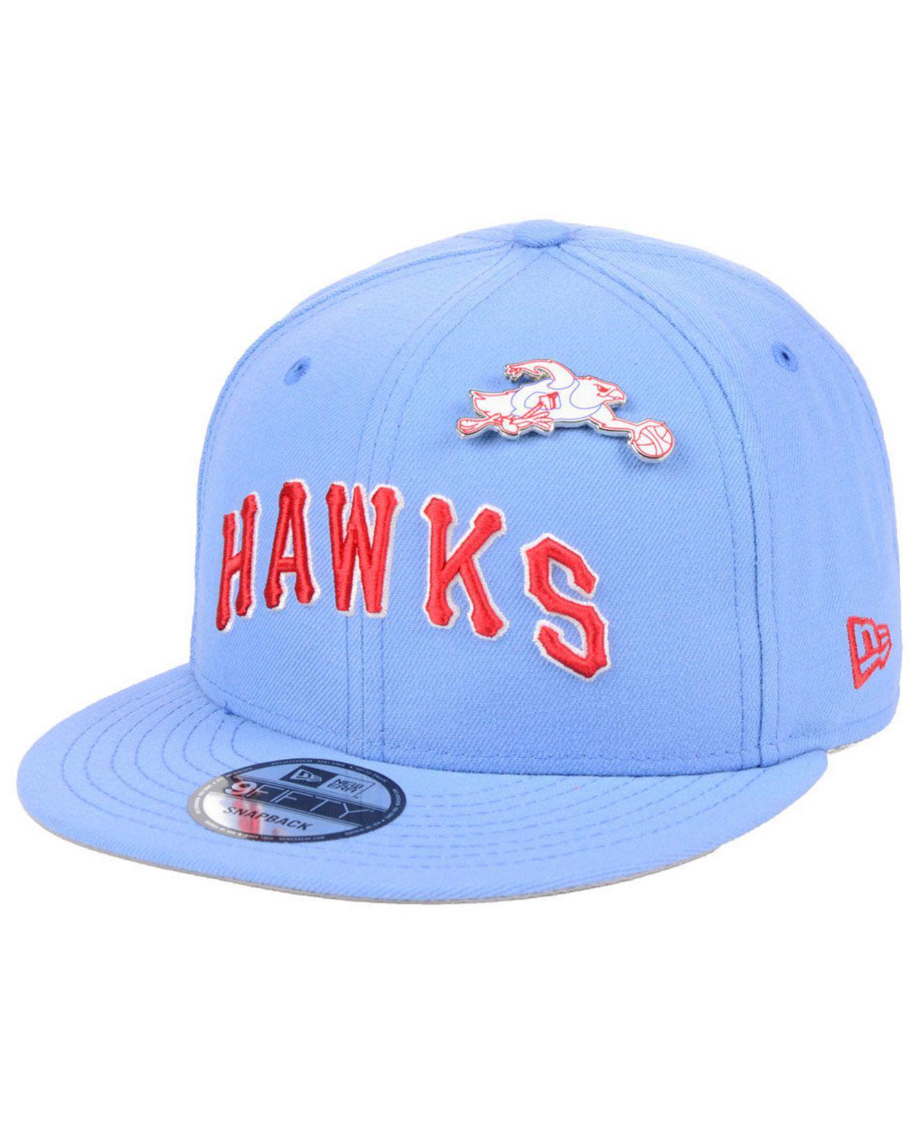 Lyst - KTZ Atlanta Hawks Hardwood Classic Nights Pin 9fifty Snapback ... 074dd2d6f