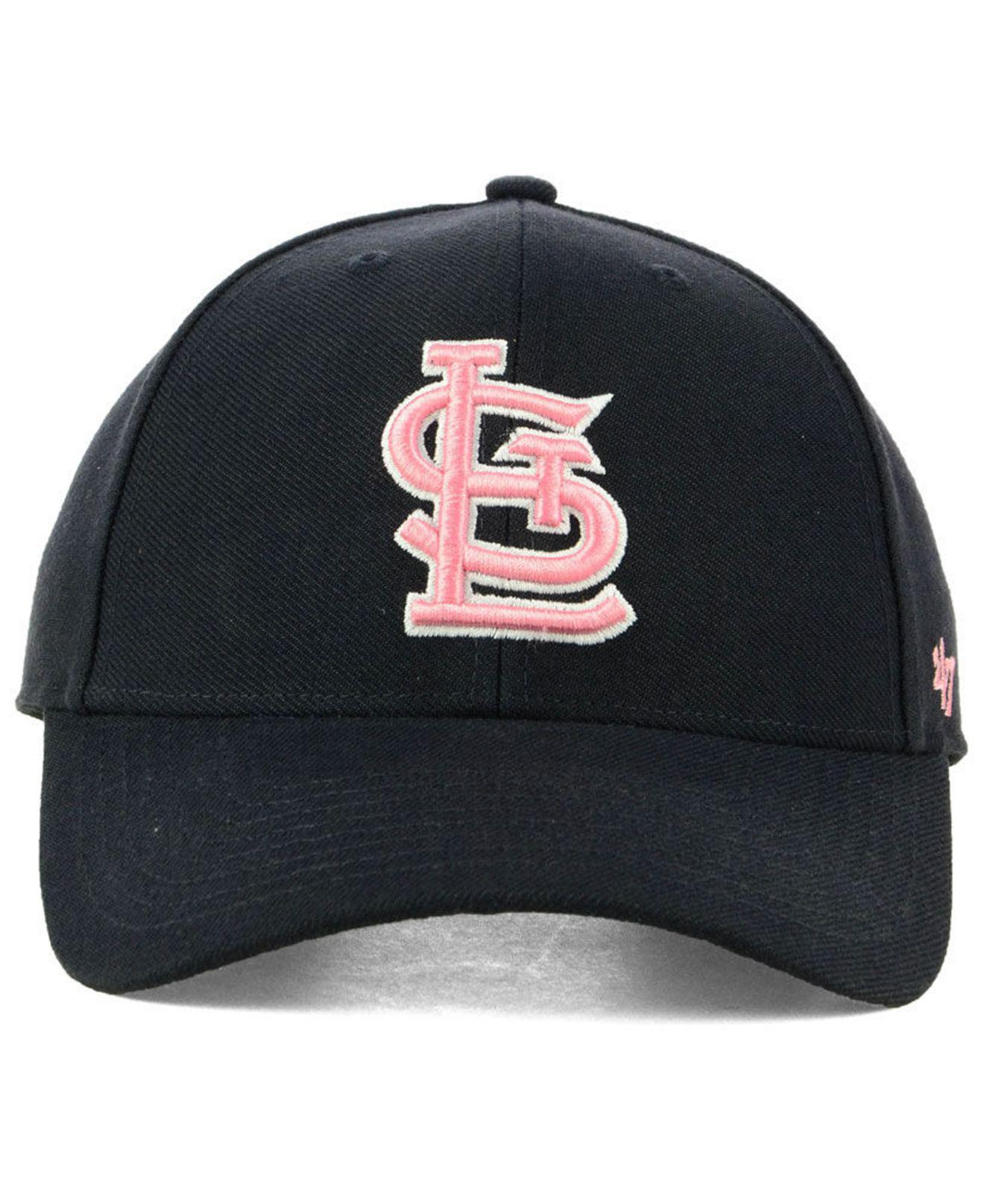 sale retailer 8f999 fcc4e real lyst 47 brand st. louis cardinals navy pink mvp cap in blue for men
