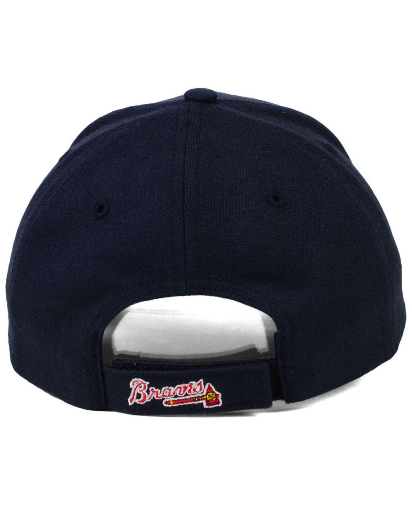 online store 9db6b 0f5bb ... americas pastime mvp replica adjustable hat navy 6fa9f 943d5  store  lyst 47 brand atlanta braves mlb on field replica mvp cap in blue 53c5e  e5a56