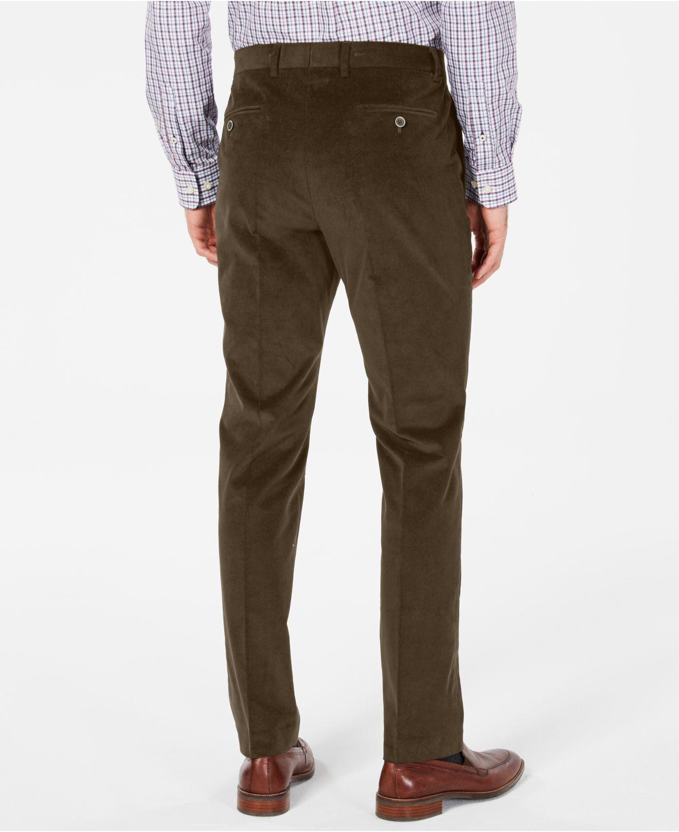 56e7036ac16c7d Lyst - Tommy Hilfiger Modern-fit Th Flex Stretch Corduroy Dress Pants in  Brown for Men