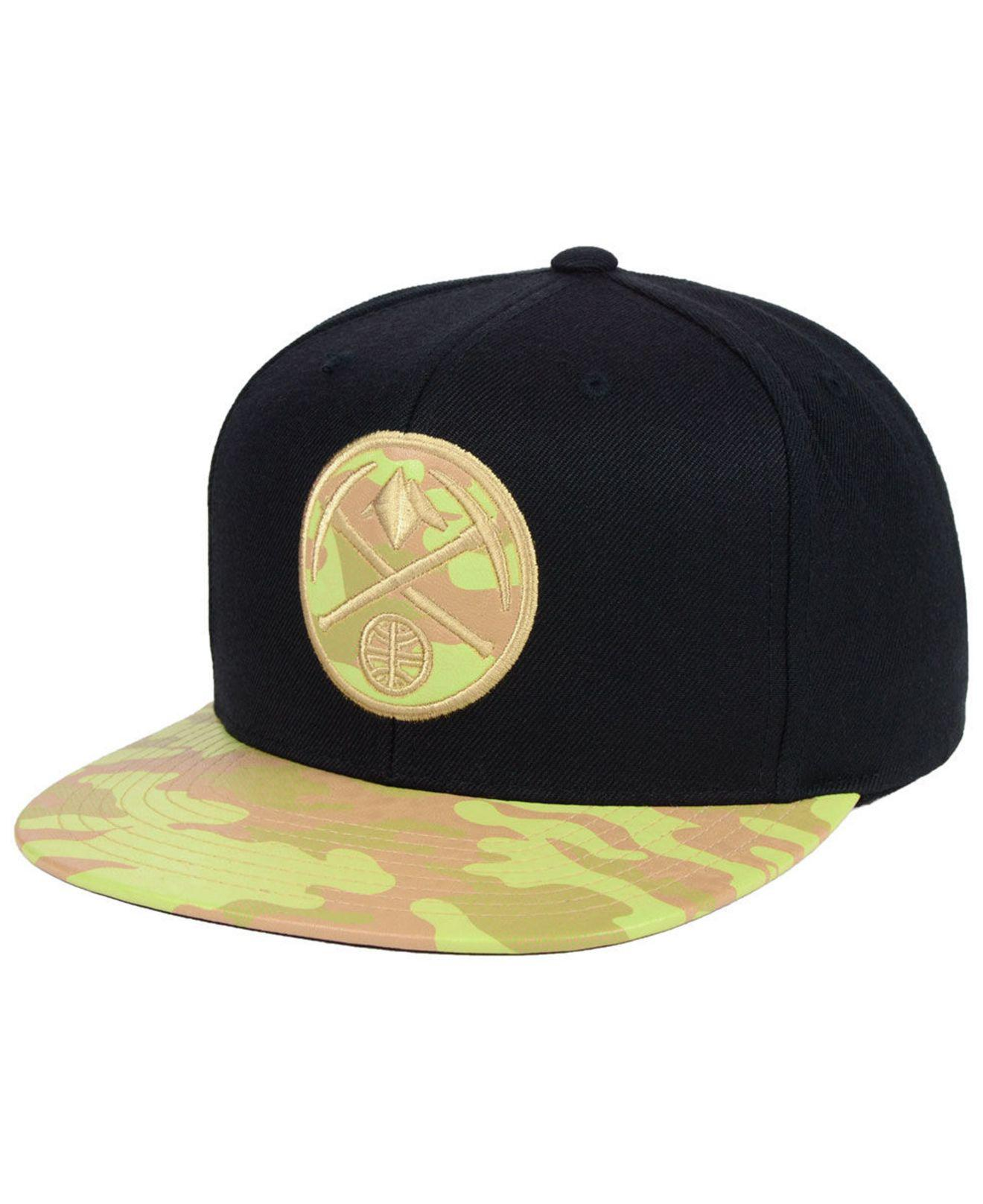 1ddc5eb7b45 Lyst - Mitchell   Ness Denver Nuggets Natural Camo Snapback Cap in ...