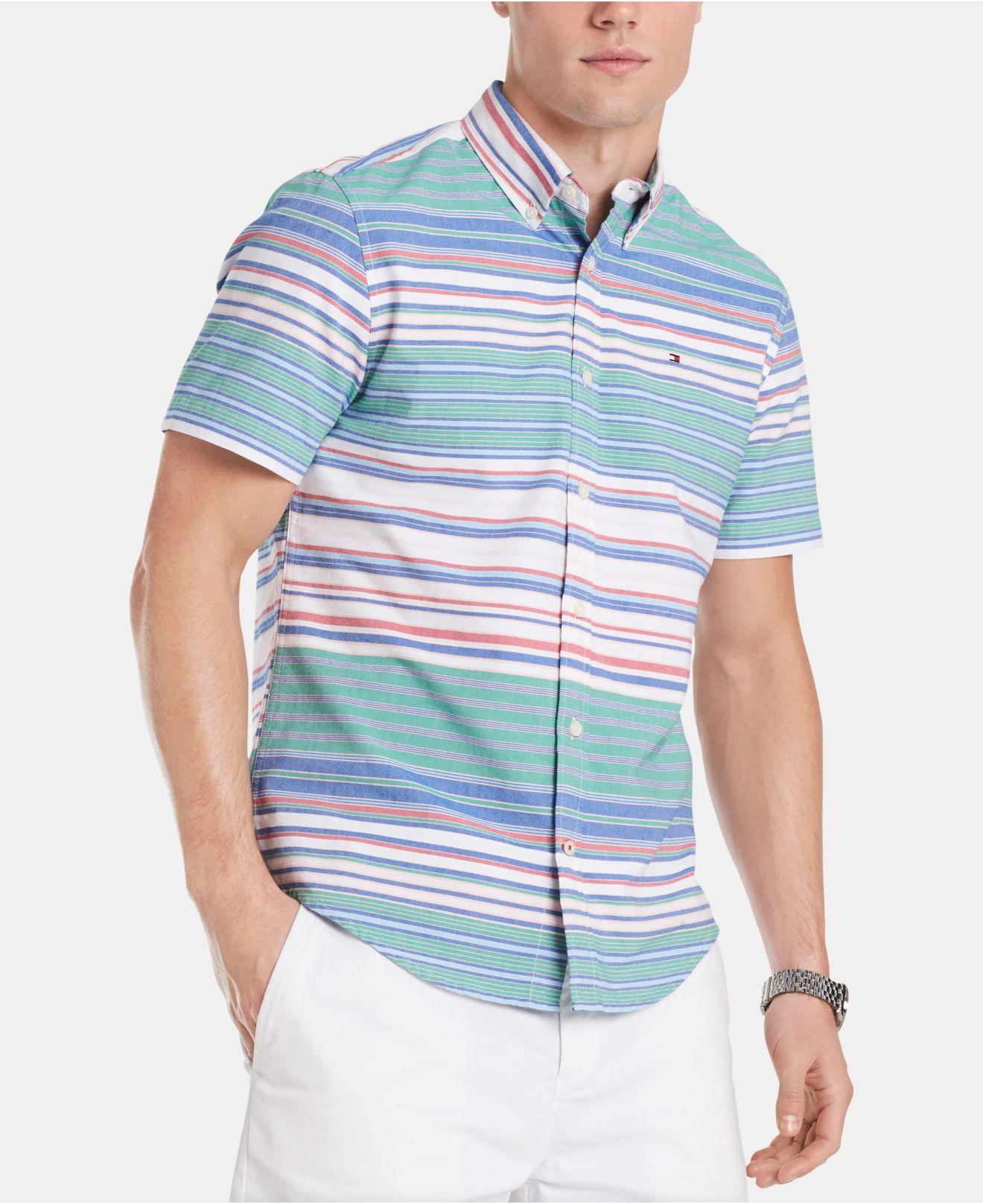 173b8698aa3 Tommy Hilfiger Palmeiri Striped Shirt in Blue for Men - Lyst
