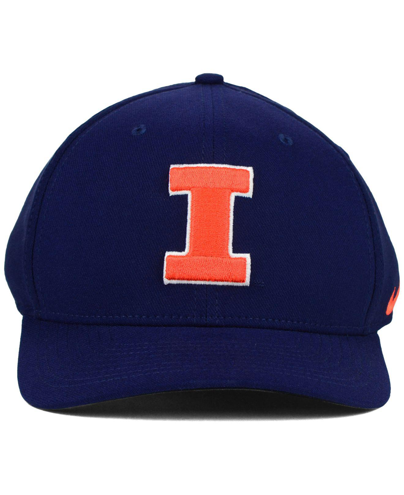 741495d130cc6 ... store lyst nike illinois fighting illini classic swoosh cap in blue for  men 410ab b281b
