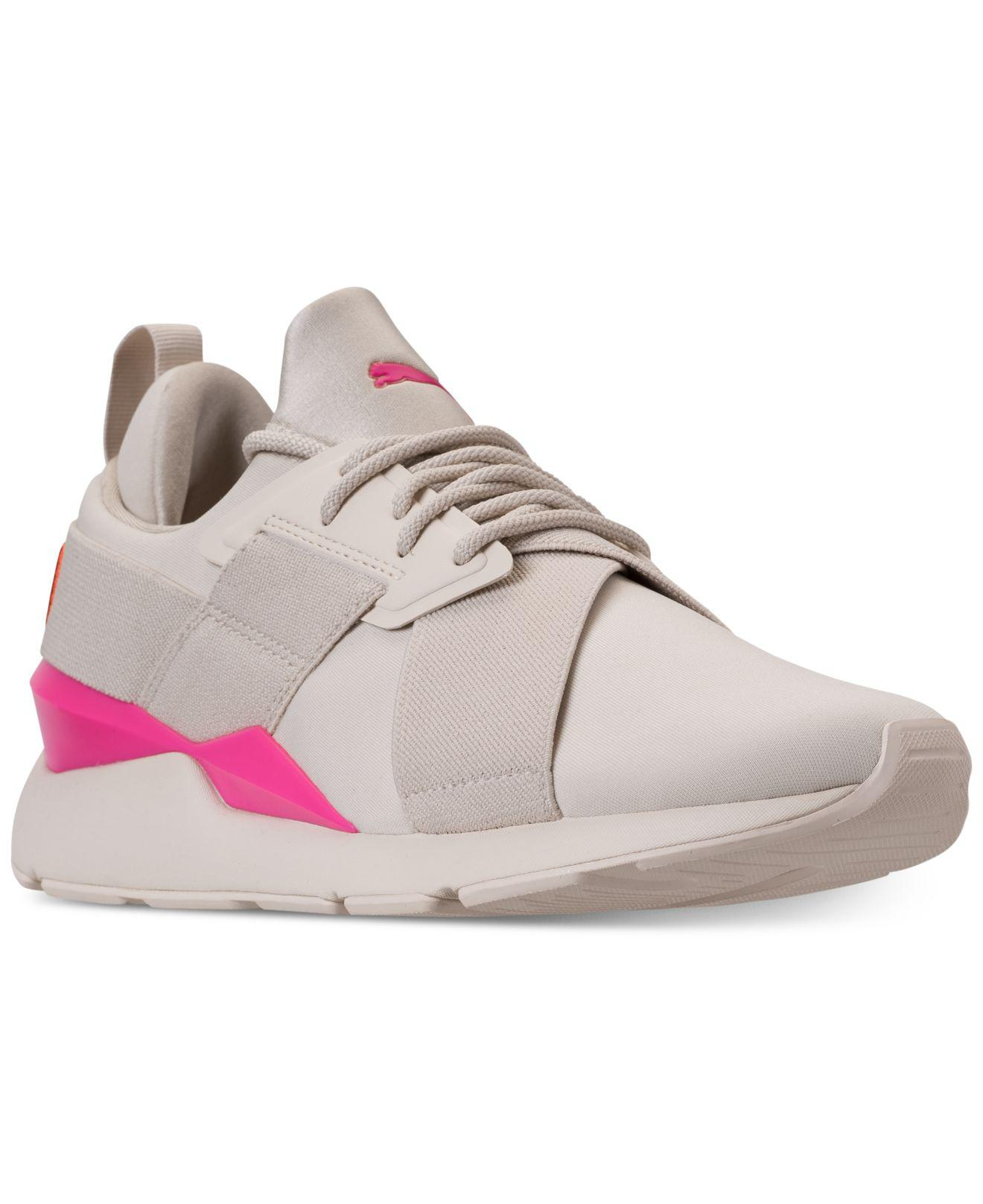 2976b16f8e7f Lyst - PUMA Muse Chase Casual Sneakers From Finish Line in Pink