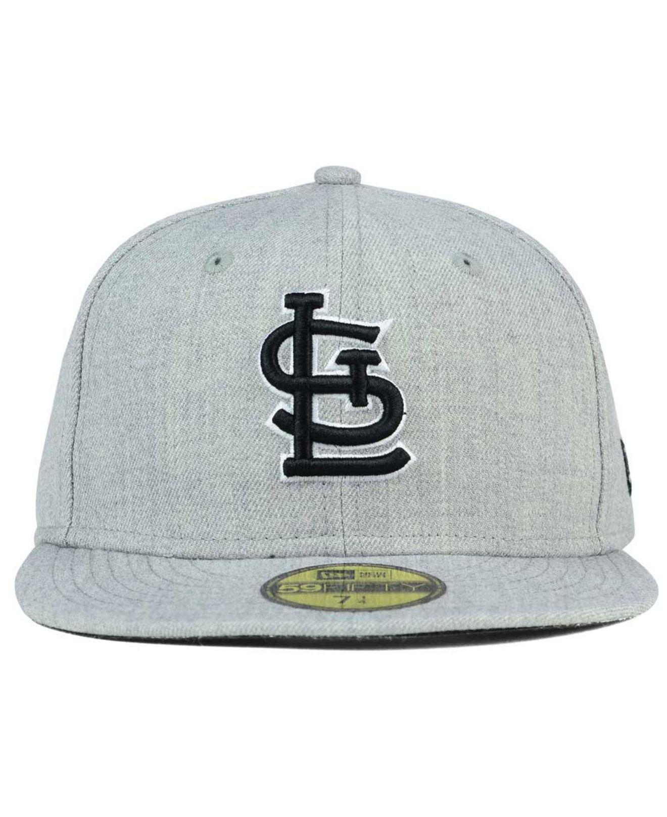 separation shoes 3b0d8 a1650 Lyst - KTZ St. Louis Cardinals Heather Black White 59fifty Cap in Gray for  Men